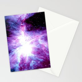 Orion Nebula Purple Periwinkle Blue Galaxy Stationery Cards