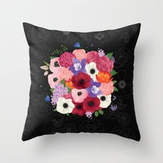 floral topiary Throw Pillow