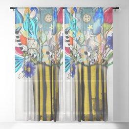 Rupy de Tequila 2019  - Wedding Vase of flowers Sheer Curtain