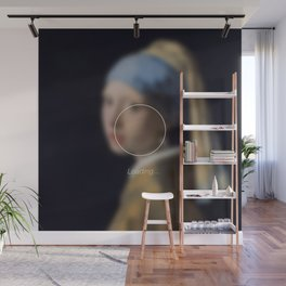 Girl with a Pearl Earring _loading. Wall Mural