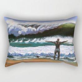 Vitruvian Surfer Rectangular Pillow