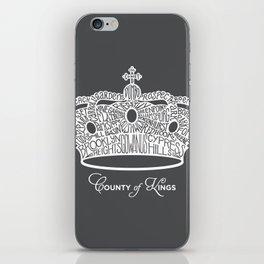County of Kings | Brooklyn NYC Crown (WHITE) iPhone Skin