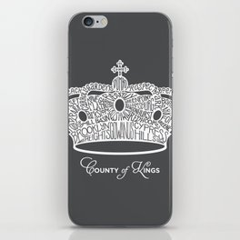 County of Kings | Brooklyn NYC Crown (WHITE) iPhone Skin