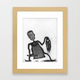 Mister No Face Framed Art Print