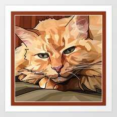Louie Cat Art Print