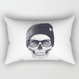 Grey Skull in a hat Rectangular Pillow