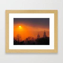 Foggy Portland Sunset (3) Framed Art Print