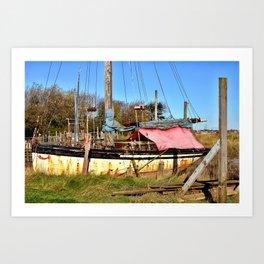 Boat at Skipool Creek Art Print