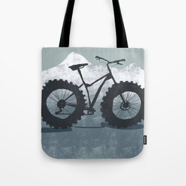Fat bike in the mountains Tote Bag