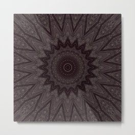 Slightly Lighter Abyssmal Mandala Metal Print