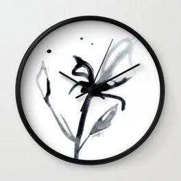 Brushstroke Floral No. 14 by Kathy Morton Stanion Wall Clock