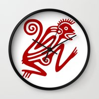 monkey Wall Clocks featuring Monkey by Fernando Vieira