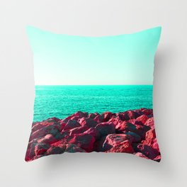 HueSaturationSea Throw Pillow