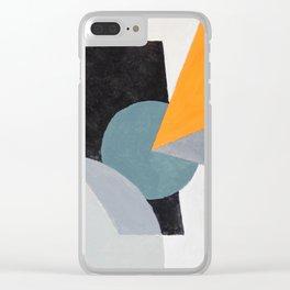 Orange triangle Clear iPhone Case