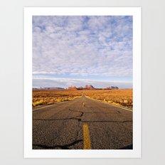 Desert Highway Art Print