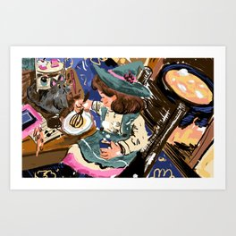 The Witchy Baker Art Print