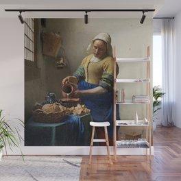 The milkmaid, Johannes Vermeer, ca. 1660 Wall Mural