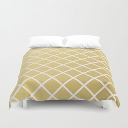 Pineapple Pattern Gold Duvet Cover