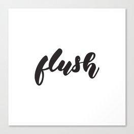 bathroom poster Canvas Print