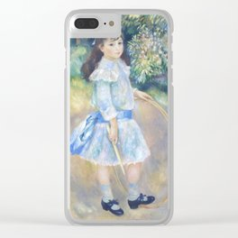 Auguste Renoir - Girl With A Hoop Clear iPhone Case