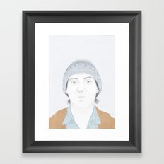 Hey There Bright Eyes Framed Art Print