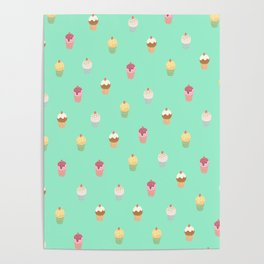 Delicious Cake Pattern Poster