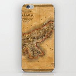 Map of Panama 1864 iPhone Skin