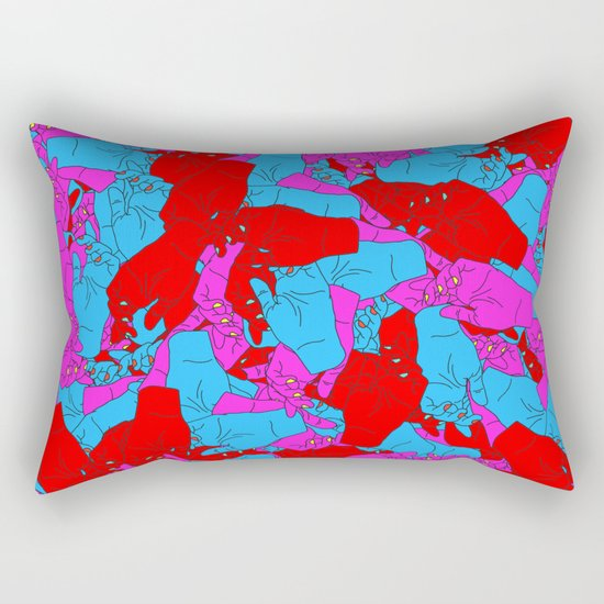 Bed of Hands Rectangular Pillow
