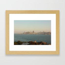 View of San Francisco from Alcatraz Island Framed Art Print