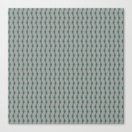 Teal lines Canvas Print