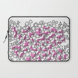 Oddgon and Angular Cluster in Pink Laptop Sleeve