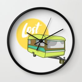 Caravan Lost Wall Clock