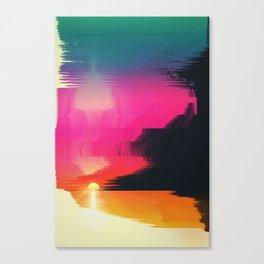 digital beachhead Canvas Print