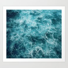 Blue Ocean Waves Art Print