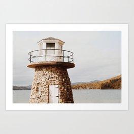 Lighthouse Landscape Art Print