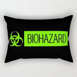 HAZMAT: Biohazard (Slime Green & Black) Rectangular Pillow
