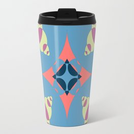 024 Abstract light green, pink and light blue art for home decoration Travel Mug