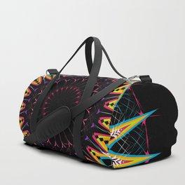 Futuristic Zen Mandala Duffle Bag
