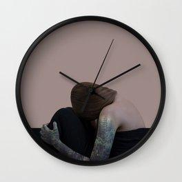 Tattoo girl forest Wall Clock