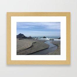 Klamath Beach in California Framed Art Print