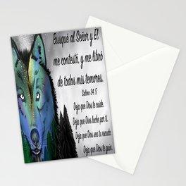 Lobo del cielo - Salmo 34, 5 Stationery Cards