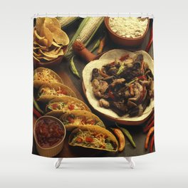 Mexican Food Shower Curtain