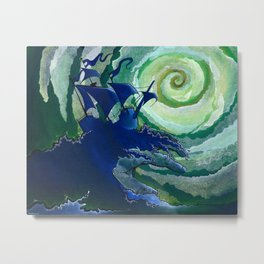 Rage Against Poseidon Metal Print