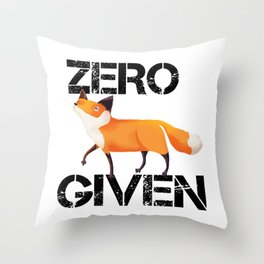 Zero Fox! Throw Pillow