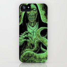 Cthulhu Green Demon Nun Art iPhone Case