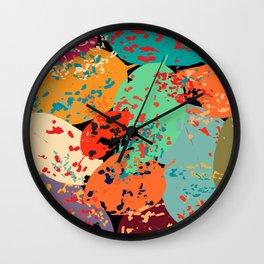 Sprinkled Leaves Wall Clock