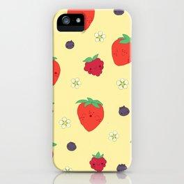 Kawaii Strawberries iPhone Case
