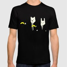 Pulp banana Black MEDIUM Mens Fitted Tee
