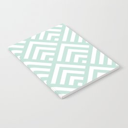 Turquoise Blue geometric art deco diamond pattern Notebook