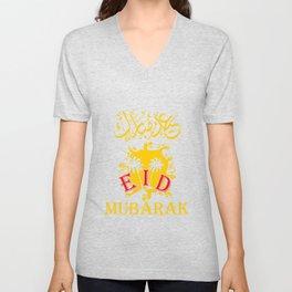Eid Mubarak Celebration Unisex V-Neck